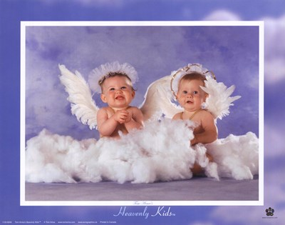 Heavenly Kids 2 Angels art print by Tom Arma for $17.50 CAD