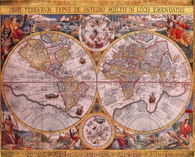 Map - Orbis Terrarum art print by Unknown for $26.25 CAD