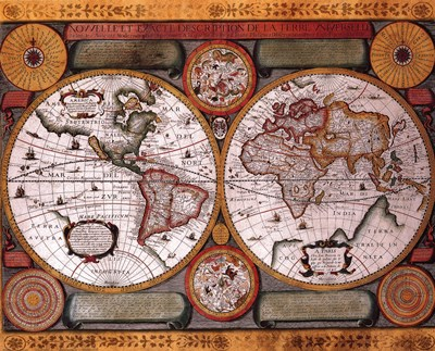 Map - Terre Universelle art print by Unknown for $26.25 CAD