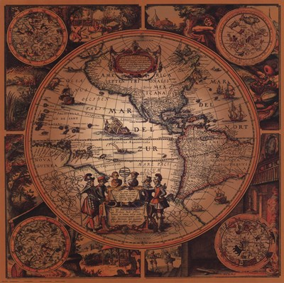 Map - Cartographica 2 art print by Unknown for $45.00 CAD