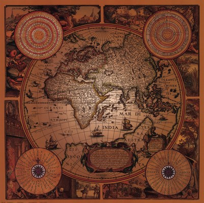 Map - Cartographica 1 art print by Unknown for $45.00 CAD