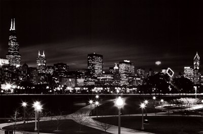 Chicago at Night art print by Unknown for $53.75 CAD