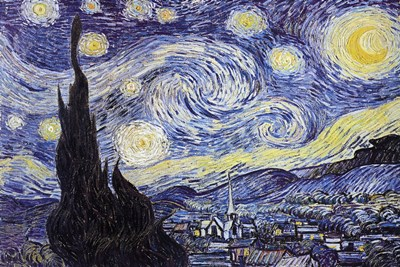 The Starry Night, c.1889 art print by Vincent Van Gogh for $26.25 CAD