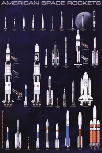 American Space Rockets art print by Unknown for $31.25 CAD