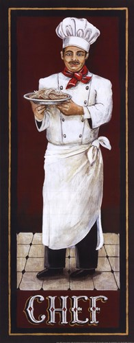 Chef art print by Gregory Gorham for $15.00 CAD