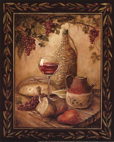 Tuscan Table - Chianti - Mini art print by Gregory Gorham for $7.50 CAD