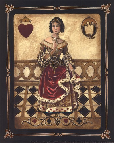 Harlequin Queen - Mini art print by Gregory Gorham for $7.50 CAD