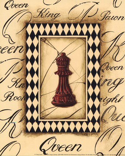 Chess Queen - Mini art print by Gregory Gorham for $7.50 CAD