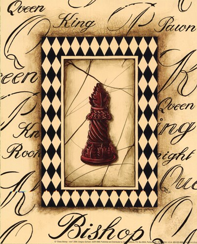 Chess Bishop - Mini art print by Gregory Gorham for $7.50 CAD