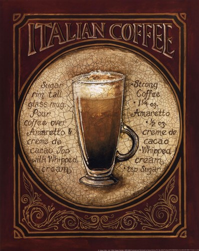 Italian Coffee - Mini art print by Gregory Gorham for $12.50 CAD