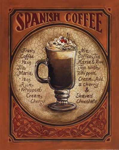 Spanish Coffee - Mini art print by Gregory Gorham for $12.50 CAD