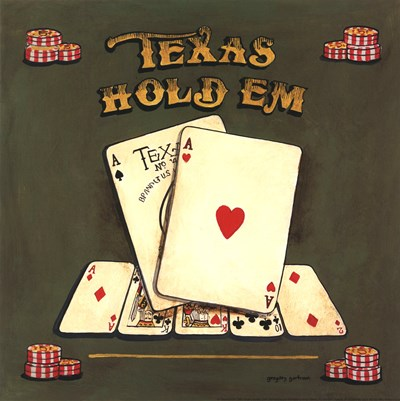 Texas Hold Em art print by Gregory Gorham for $12.50 CAD