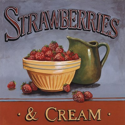 Strawberries & Cream - mini art print by Gregory Gorham for $7.50 CAD