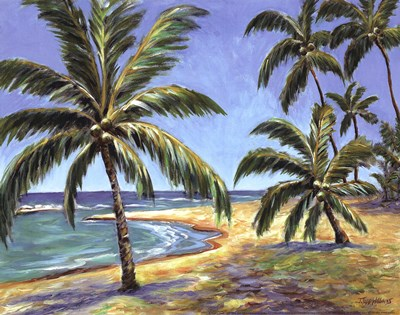 Tropical Beach art print by Todd Williams for $12.50 CAD