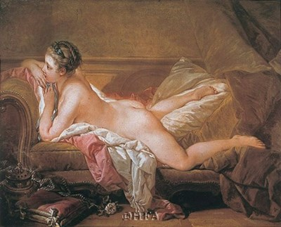 Girl Resting art print by Francois Boucher for $11.25 CAD