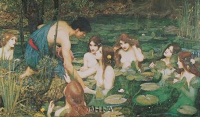 Hylas and the Nymphs art print by John William Waterhouse for $11.25 CAD