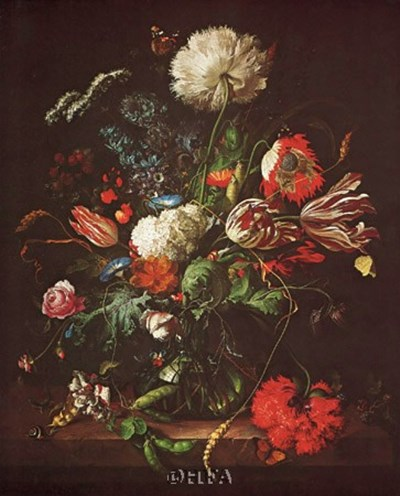 Vase of Flowers art print by Jan Davidsz De Heem for $11.25 CAD