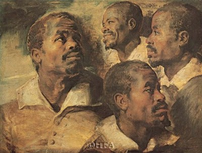 Four Negro Heads art print by Peter Paul Rubens for $11.25 CAD