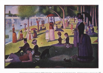 A Sunday Afternoon on the Island art print by Georges Seurat for $11.25 CAD
