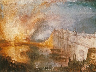 Burning of the Houses of Parliament art print by J.M.W. Turner for $11.25 CAD