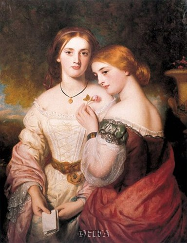Two Victorian Beauties art print by Charles Baxter for $11.25 CAD
