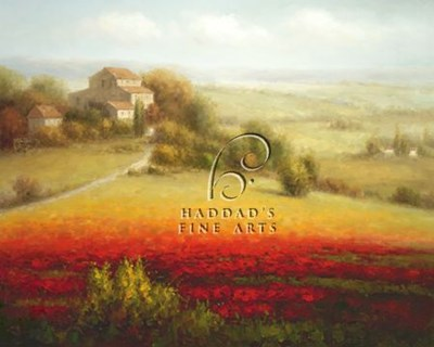 Fields of Red and Gold I art print by Eugene Laporte for $11.25 CAD