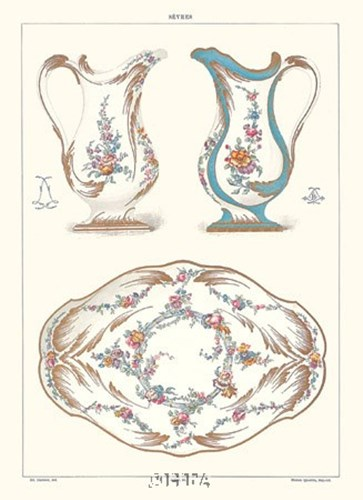 Pitchers and Tray art print by Sevres -anon. Porcelain for $20.00 CAD