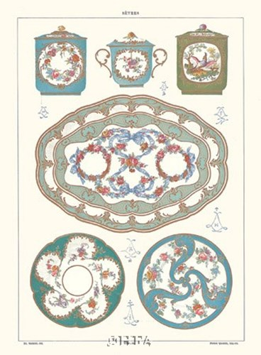 Blue art print by Sevres -anon. Porcelain for $20.00 CAD