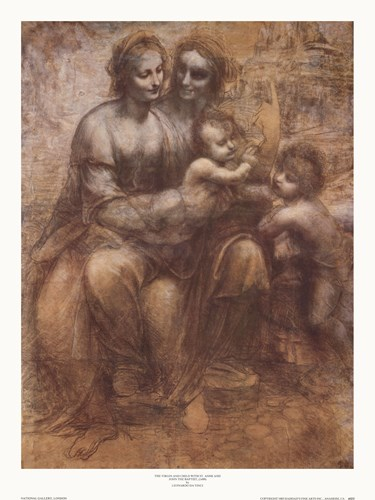 The Virgin and Child with St. Anne art print by Leonardo Da Vinci for $27.50 CAD