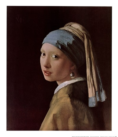 Maiden with a Pearl art print by Johannes Vermeer for $25.00 CAD