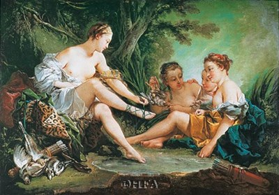 Diana Resting after the Hunt art print by Francois Boucher for $25.00 CAD