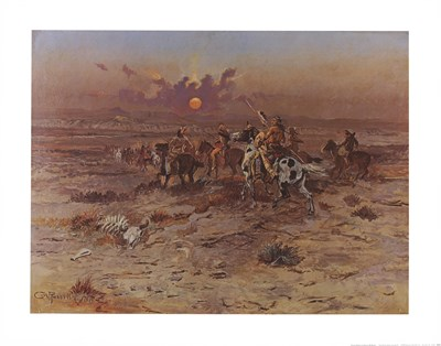 Stolen Horses art print by Charles M. Russell for $25.00 CAD