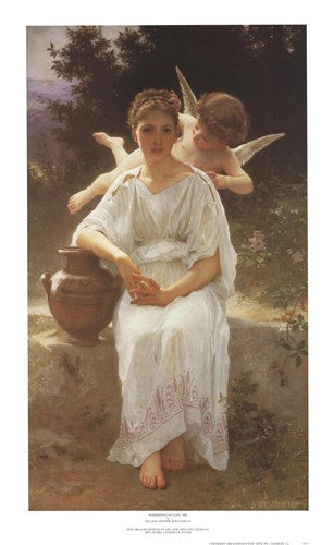 Whisperings of Love, 1889 art print by William Adolphe Bouguereau for $33.75 CAD