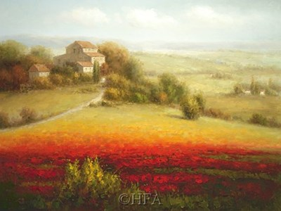 Fields of Red and Gold I art print by Eugene Laporte for $52.50 CAD