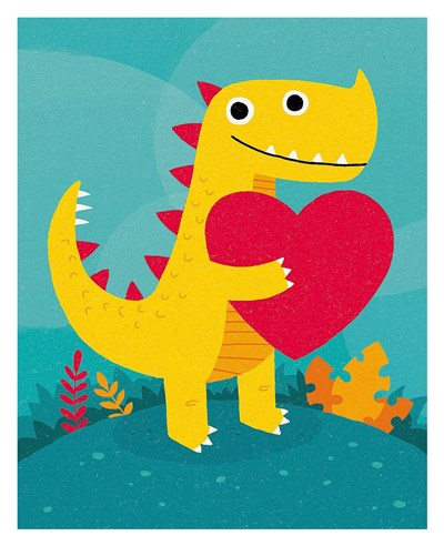 Dino Love art print by Michael Buxton for $72.50 CAD