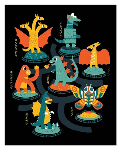Tokyo Zoo art print by Michael Buxton for $72.50 CAD