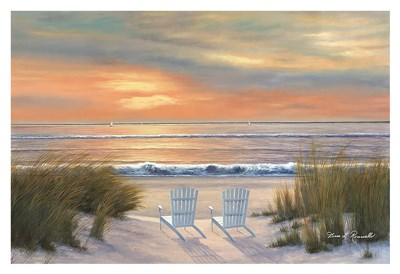 Paradise Sunset art print by Diane Romanello for $85.00 CAD