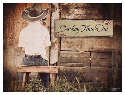 Cowboy Time OUt art print by Shawnda Eva for $117.50 CAD