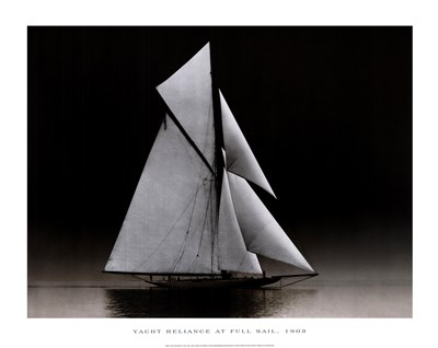 Yacht Reliance at Full Sail, 1903 art print by Photography Collection for $21.25 CAD