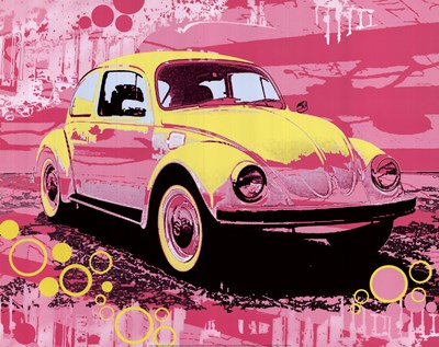 Vintage Beetle art print by Michael Cheung for $21.25 CAD