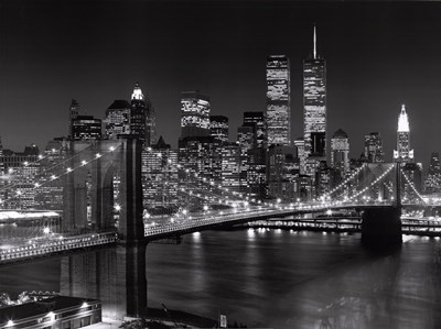 New York, New York, Brooklyn Bridge art print by Henri Silberman for $68.75 CAD