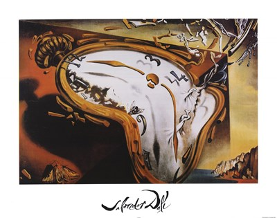 Soft Watch At Moment of First Explosion, c.1954 art print by Salvador Dali for $43.75 CAD