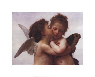 The First Kiss art print by William Adolphe Bouguereau for $20.00 CAD