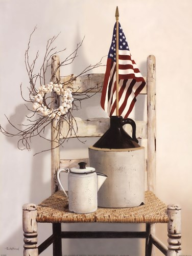 Chair With Jug and Flag art print by Cecile Baird for $26.25 CAD
