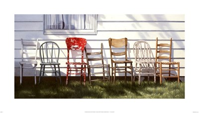 Chair Collection art print by Cecile Baird for $32.50 CAD