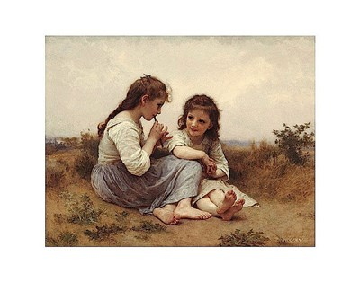 A Childhood Idyll art print by William Adolphe Bouguereau for $16.25 CAD