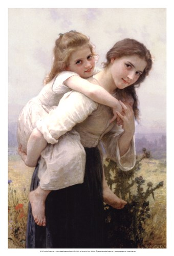 Not Too Much to Carry art print by William Adolphe Bouguereau for $20.00 CAD