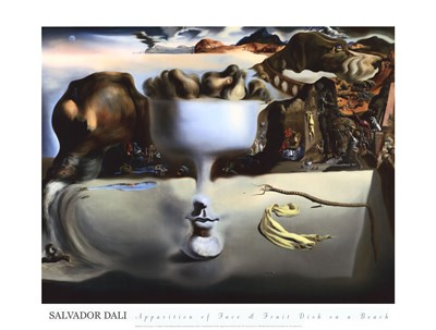 Apparition of Face and Fruit Dish on a Beach, c.1938 art print by Salvador Dali for $60.00 CAD