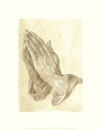 Praying Hands, c.1508 (sepia) art print by Albrecht Durer for $16.25 CAD