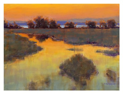 When the Sun Paints the Sky art print by Jed Dorsey for $60.00 CAD